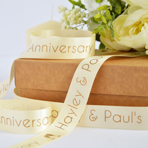 Anniversary 25mm Personalised Printed Ribbon