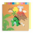 Dinosaur Jelly Magnet Card