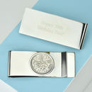 Sixpence 50th 1966 Birthday Coin Money Clip