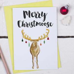 Merry Christmoose, Funny Christmas Card - new in christmas