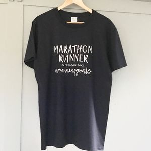 Men's Marathon Runner In Training T Shirt
