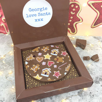Chocolate Xmas Gingerbread Gift Personalised Message