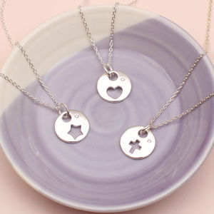 Personalised Sterling Silver Symbol Necklace