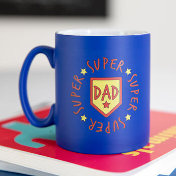 Super Dad Blue Mug