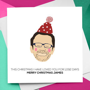 Personalised Christmas Figure Card - cards sent direct
