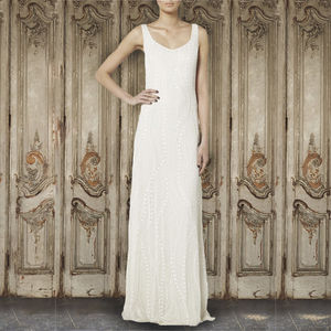 Sweetheart Georgette Gown - wedding dresses