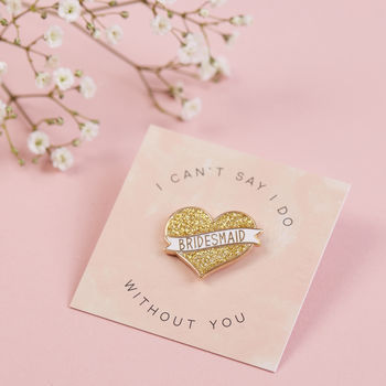 Bridesmaid Pin Proposal Gift Lapel Pin