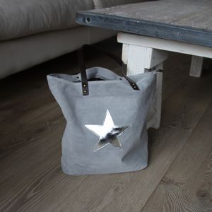 Suede Star Tote - accessories