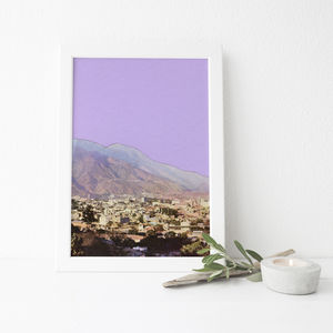 Lilac Skies Mountain Print - nature & landscape