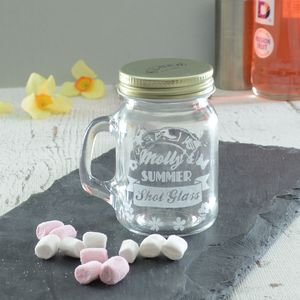 Summer Personalised Engraved Shot Glass Jar