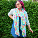 Bright And Colourful Tea Cup Print Scarf