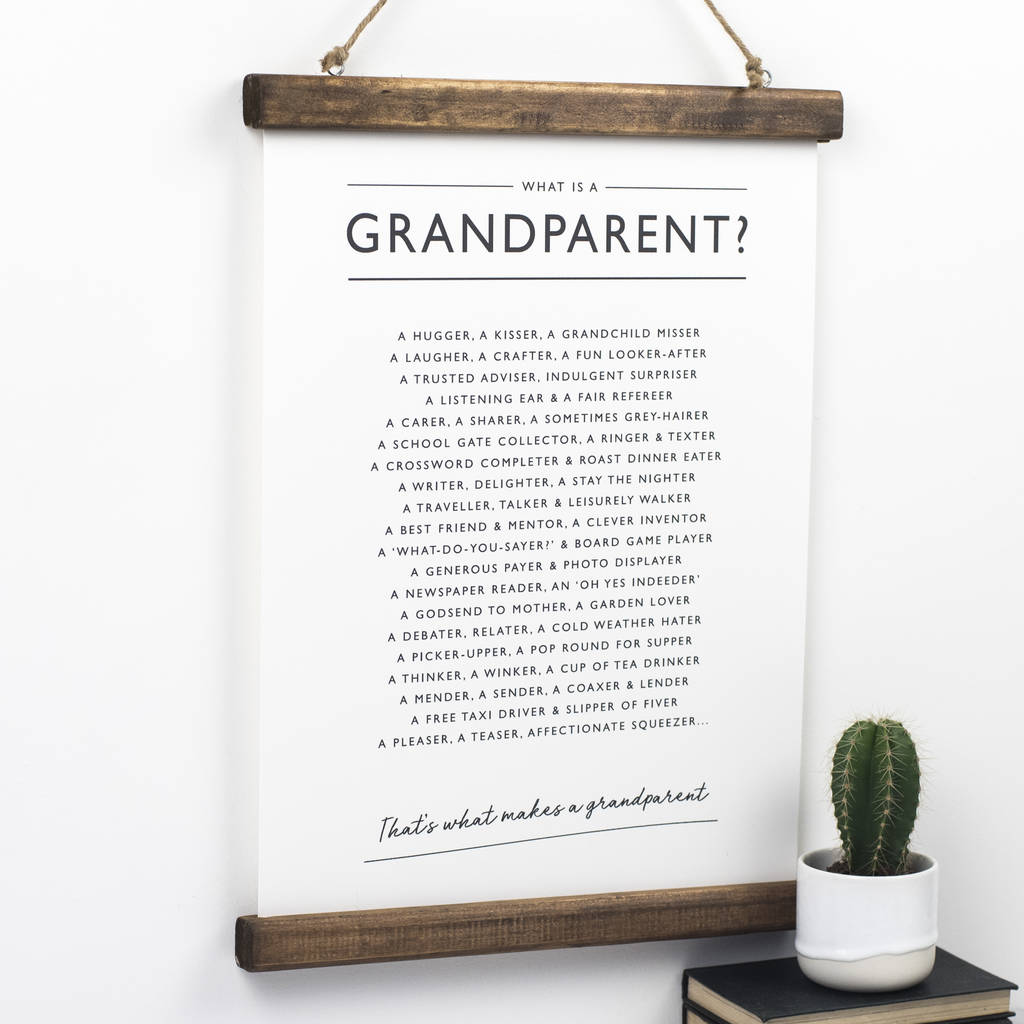 Grandparents Poem Print by Bespoke Verse