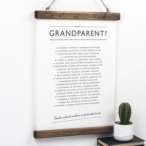 Grandparents Poem Print - winter sale