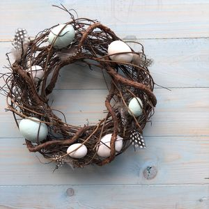 Blue And White Egg Easter Wreath