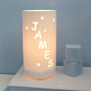 Personalised Rocket And Star Night Light - children's lighting