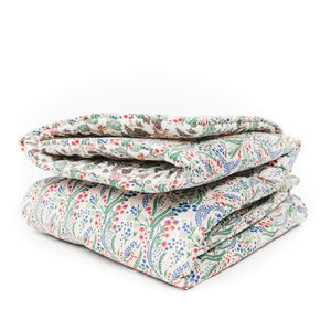 Liberty Print Quilt In Bell Flower - bedspreads & quilts