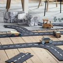 Large Felt Race Track With Wooden Car