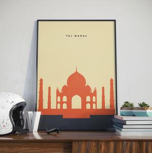 Taj Mahal Landmark Print