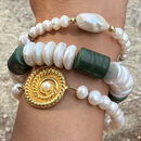 Baroque Pearls And Jade Bracelet
