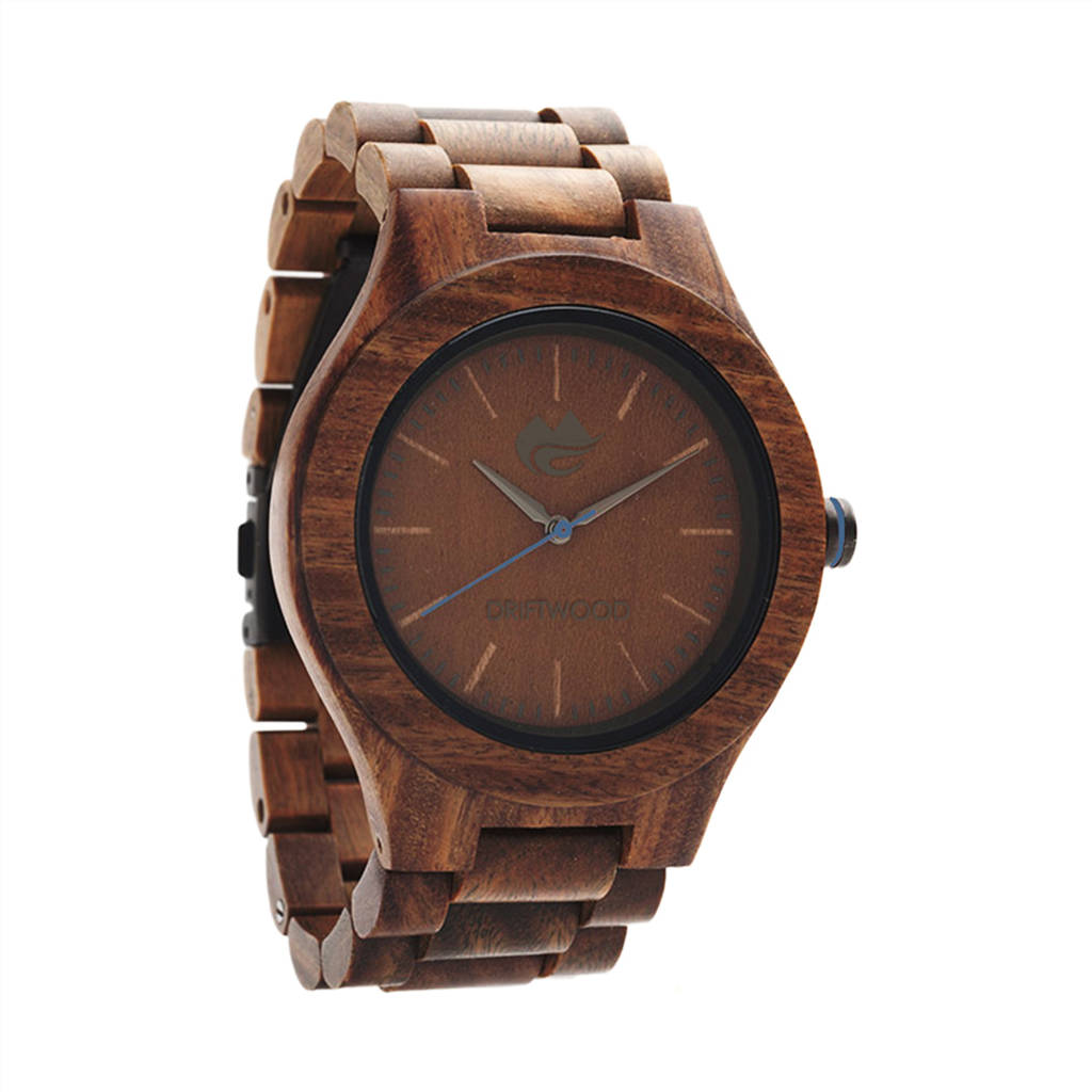 strap black leather analog watch watches wooden wood quartz woodgrain sandalwood