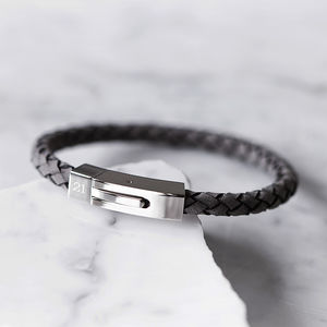 Men's Personalised Grey Bracelet - shop by category