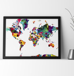 'World Map' Abstract Fine Art Giclée Print - new in prints & art
