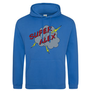 Personalised Adult Superhero Hoodie