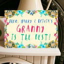 'My Grandma Is The Best!' Card From Grandchildren A5