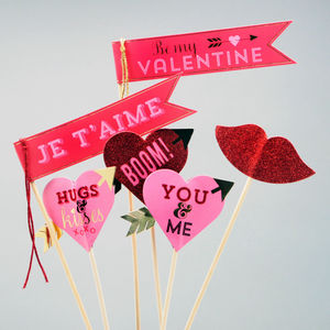 Love Selfie Props And Photo Booth Flags - view all new