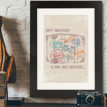 Personalised Travel Themed Print