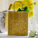 Personalised Happy 21st Lantern Bag