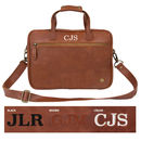 Personalised Leather Compact Laptop Satchel