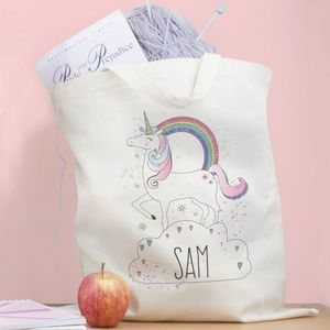 Personalised Unicorn Tote Bag - shopper bags
