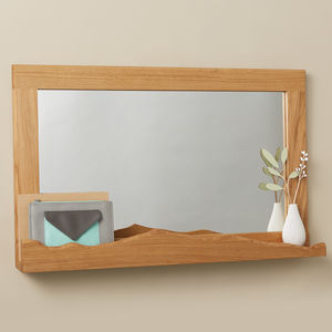 'Mountain View' Oak Mirror