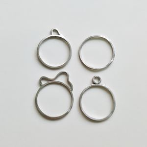 Four Silver Wire Pure Souls Stackable Rings