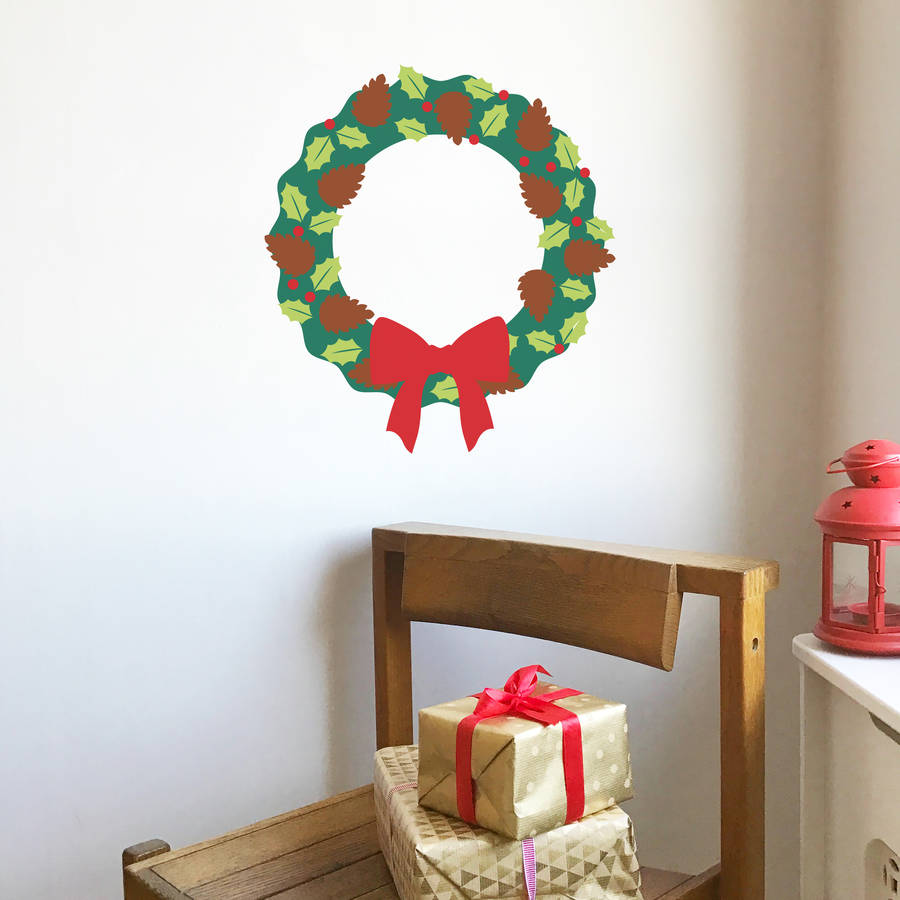 Build Your Own Christmas Wreath Vinyl Wall Sticker Part 84