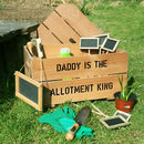 Personalised Allotment Kit Crate