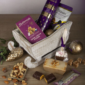 The Snowdrift Wooden Sleigh Christmas Hamper