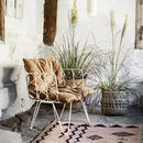 Woven Garden Room Chair In White And Rattan