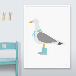 Seagull Print - children's room