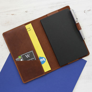 Personalised Moleskine Leather Notebook Cover