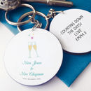 Personalised Newlywed Keyring