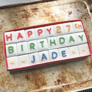 Personalised Letterbox Cake - original corporate gifts