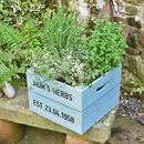 Personalised Square Crate With Herb Seeds
