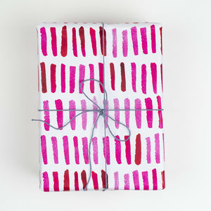 Gift Wrap Pink Dash - whats new