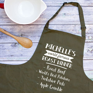 Personalised World Famous Dish Apron