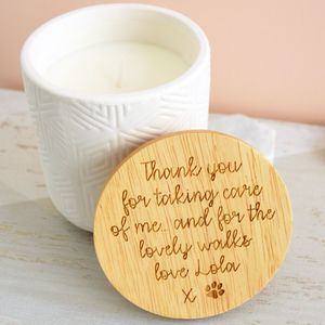 Personalised Ceramic Scented Candle - dining room