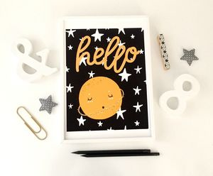 Hello Sweet Planet Nursery Print