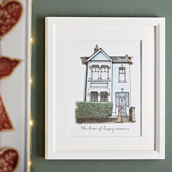 personalised Watercolour House Portrait from a photo