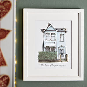 Watercolour House Portrait - personalised gifts